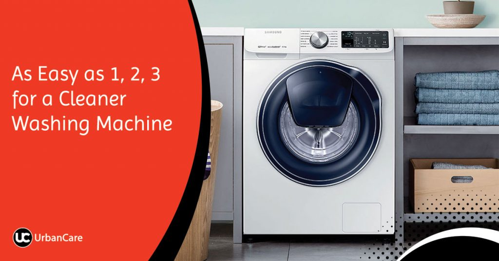 As Easy as 1, 2, 3 for a Cleaner Washing Machine